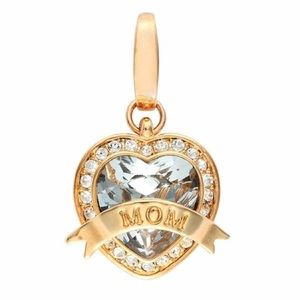 Spartina 449 Crystal Mom Heart Charm For Necklace